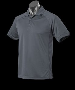 Men's Flinders Polo - 3XL, Slate/Black