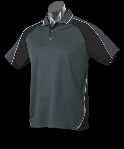 Men's Panorama Polo - L, Slate/Black/White
