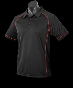 Men's Endeavour Polo - XL, Black/Red