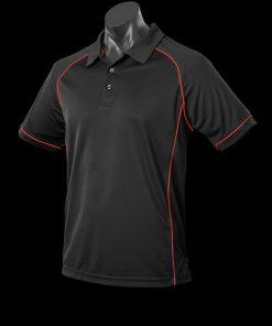 Men's Endeavour Polo - L, Black/Red
