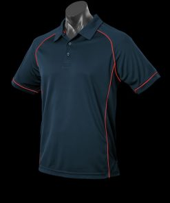 Men's Endeavour Polo - L, Navy/Red
