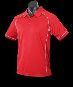 Men's Endeavour Polo - L, Red/White