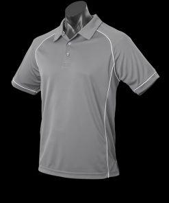 Men's Endeavour Polo - L, Silver/White