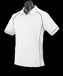 Men's Endeavour Polo - L, White/Navy