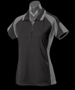 Women's Murray Polo - 12, Black/Ashe/White