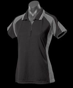 Women's Murray Polo - 16, Black/Ashe/White