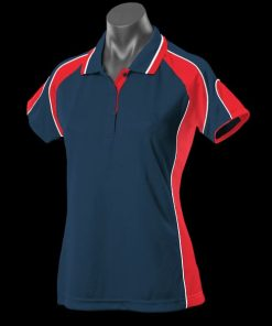 Women's Murray Polo - 16, Navy/Red/White