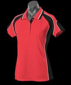 Women's Murray Polo - 16, Red/Black/White