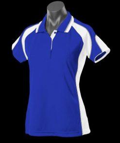 Women's Murray Polo - 8, Royal/White/Ashe