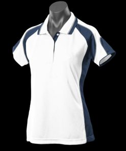 Women's Murray Polo - 18, White/Navy/Ashe