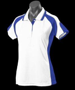 Women's Murray Polo - 12, White/Royal/Ashe