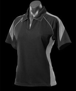 Women's Premier Polo - 10, Black/Ashe