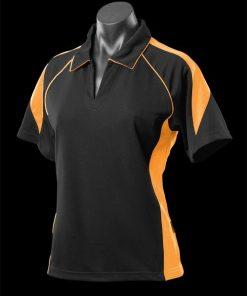 Women's Premier Polo - 8, Black/Gold