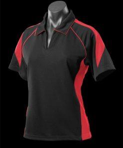 Women's Premier Polo - 8, Black/Red