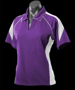 Women's Premier Polo - 8, Purple/White