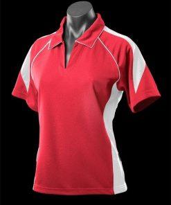 Women's Premier Polo - 8, Red/White