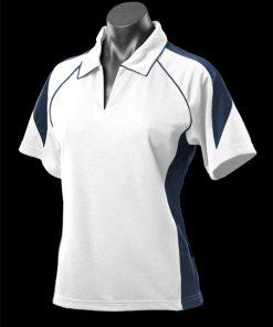 Women's Premier Polo - 8, White/Navy