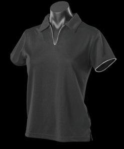 Women's Yarra Polo - 12-14, Black/White