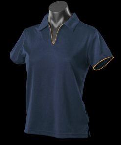 Women's Yarra Polo - 12-14, Navy/Gold