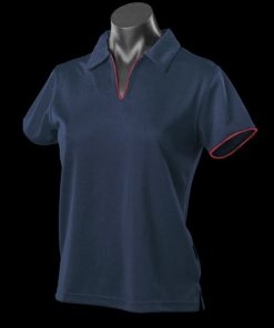 Women's Yarra Polo - 16-18, Navy/Red