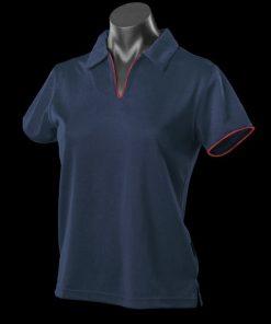 Women's Yarra Polo - 24-26, Navy/Red