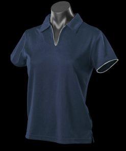 Women's Yarra Polo - 8-10, Navy/White