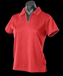 Women's Yarra Polo - 12-14, Red/White