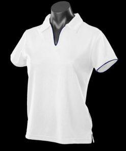 Women's Yarra Polo - 24-26, White/Navy