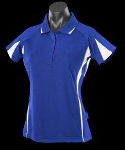 Women's Eureka Polo - 10, Royal/White/Ashe