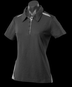 Women's Paterson Polo - 12, Black/Ashe
