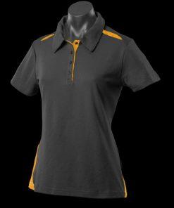 Women's Paterson Polo - 16, Black/Gold