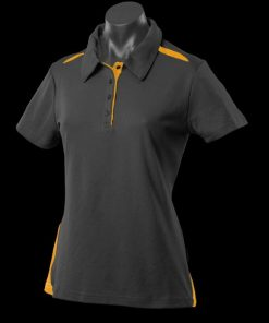 Women's Paterson Polo - 6, Black/Gold