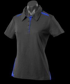 Women's Paterson Polo - 14, Black/Royal