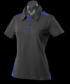 Women's Paterson Polo - 20, Black/Royal