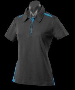 Women's Paterson Polo - 20, Black/Teal