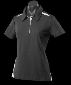 Women's Paterson Polo - 14, Black/White