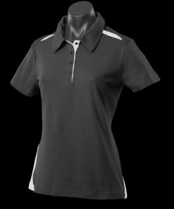 Women's Paterson Polo - 24, Black/White