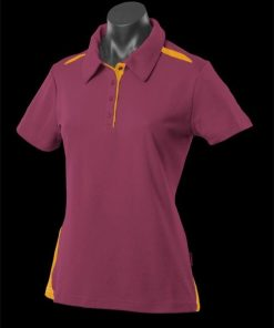 Women's Paterson Polo - 6, Maroon/Gold