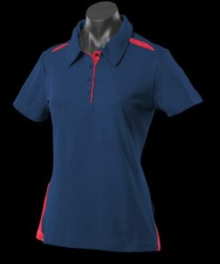 Women's Paterson Polo - 6, Navy/Red