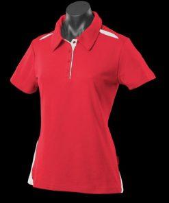 Women's Paterson Polo - 12, Red/White