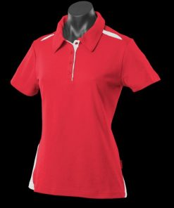 Women's Paterson Polo - 14, Red/White
