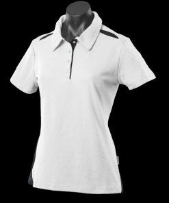 Women's Paterson Polo - 14, White/Navy