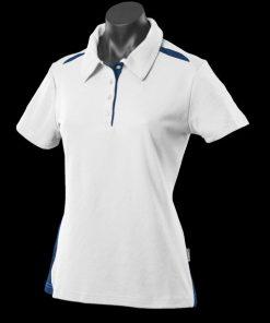 Women's Paterson Polo - 16, White/Navy