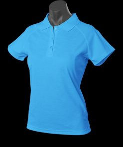 Women's Keira Polo - 22, Pacific Blue