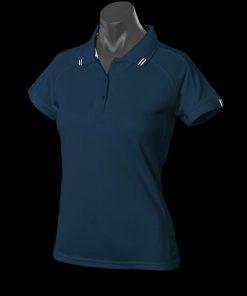 Women's Flinders Polo - 10, Navy/White