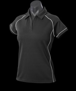 Women's Endeavour Polo - 10, Black/White