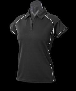 Women's Endeavour Polo - 18, Black/White