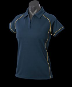 Women's Endeavour Polo - 10, Navy/Gold