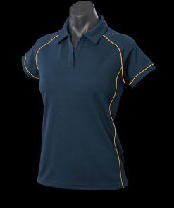 Women's Endeavour Polo - 6, Navy/Gold