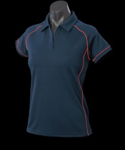 Women's Endeavour Polo - 6, Navy/Red